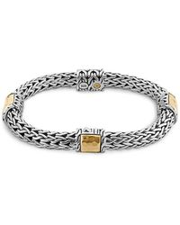 John Hardy - Sterling Silver And 18k Bonded Gold Palu Four Station Bracelet - Lyst