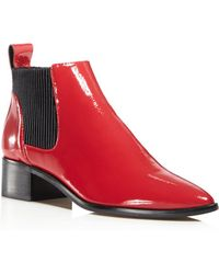 Dolce Vita - Macie Patent Leather Chelsea Booties - Lyst