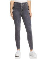 J Brand - Natasha Sky High Skinny Jeans In Obscura - Lyst