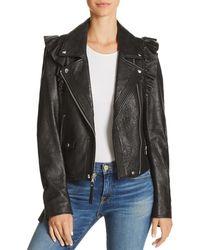 PAIGE - Annika Leather Moto Jacket - Lyst