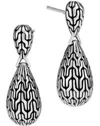 John Hardy - Sterling Silver Classic Chain Drop Earrings - Lyst