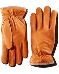 Hestra - Samuel Knit-trimmed Leather Gloves - Lyst