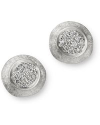 Marco Bicego - 18k White Gold Delicati Jaipur Diamond Stud Earrings - Lyst