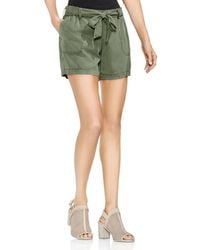 Vince Camuto - Twill Belted Shorts - Lyst