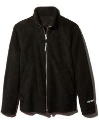 Stutterheim - Reversible Black Fleece Varby Zip Jacket - Lyst