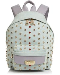 Zac Zac Posen - Eartha Small Denim And Leather Backpack - Lyst