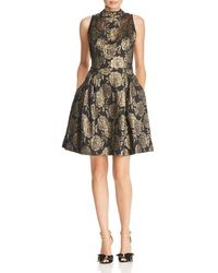 Nanette Nanette Lepore - Metallic Floral Damask Dress - Lyst