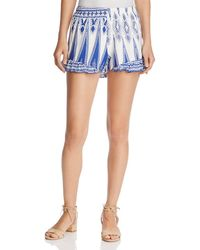 Surf Gypsy - Ruffle Swim Cover-up Shorts - Lyst