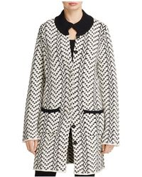 Foxcroft - Nola Chevron Sweater Coat - Lyst