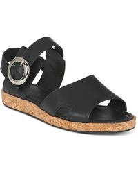 Whistles - Women's Maddox Leather & Cork Ankle Strap Sandals - Lyst