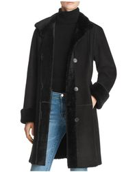 Maximilian - Peyton Shearling Coat With Toscana Shearling Stand Collar - Lyst