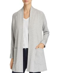 Eileen Fisher - Heathered Open-front Cardigan - Lyst
