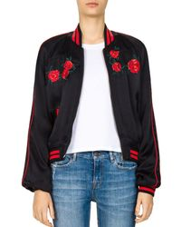 The Kooples - Embroidered Bomber Jacket - Lyst
