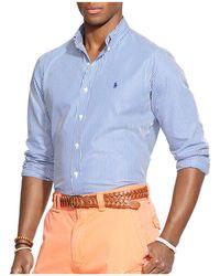 Polo Ralph Lauren - Striped Poplin Button-down Shirt - Classic Fit - Lyst
