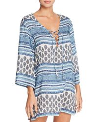 c37633b6e6 J Valdi - Topanga Three-quarter Sleeve Tunic Swim Cover-up - Lyst