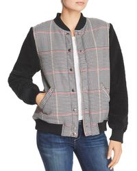 The Fifth Label - Portray Houndstooth & Teddy Bear Checked Bomber - Lyst