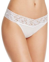 Hanky Panky - Cotton With A Conscience Original-rise Thong - Lyst