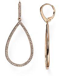 Nadri - Pavé Open Teardrop Earrings - Lyst