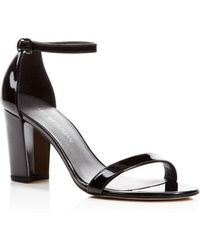 9556de619b6 Stuart Weitzman Women s Newdeal Leather Platform Ankle Strap Sandals ...