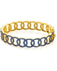 Freida Rothman - Baroque Circle Link Bangle Bracelet - Lyst