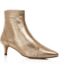 Rebecca Minkoff - Siya Metallic Leather Pointed Toe Booties - Lyst