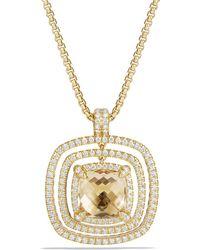 David Yurman - Châtelaine Pavé Bezel Enhancer With Champagne Citrine And Diamonds In 18k Gold - Lyst