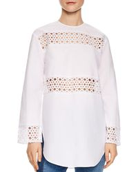 Sandro - Chairman Eyelet Lace-inset Top - Lyst