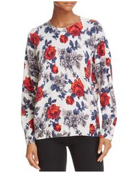 Equipment - Melanie Floral Cashmere Sweater - Lyst
