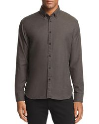 Billy Reid - Irvine Micro-herringbone Regular Fit Button-down Shirt - Lyst