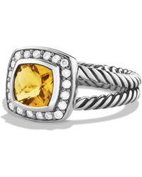 David Yurman - Petite Albion Ring With Citrine & Diamonds - Lyst