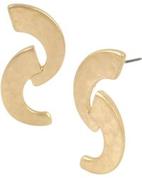 Robert Lee Morris - Double Crescent Linear Drop Earrings - Lyst