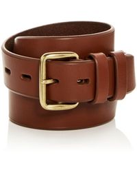 Cole Haan - Waxed Leather Belt - Lyst