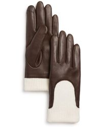 Fownes - Knit-cuff Leather Tech Gloves - Lyst
