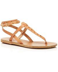 cd5cbf8e1cd6 Ancient Greek Sandals - Women s Estia Studded Leather Thong Sandals - Lyst