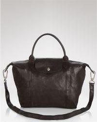 Longchamp   Le Pliage Small Leather Satchel   Lyst