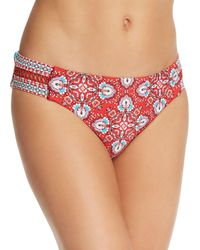 Laundry by Shelli Segal - Lattice Tab Side Hip Bikini Bottom - Lyst