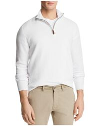 Bloomingdale's - Birdseye Quarter-zip Sweater - Lyst