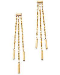 Moon & Meadow - 14k Yellow Gold Link Drop Earrings - Lyst
