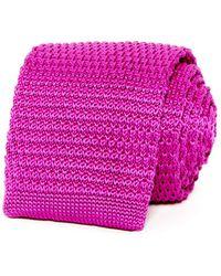 Bloomingdale's - Solid Knit Skinny Tie - Lyst