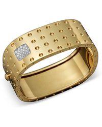Roberto Coin - 18k Yellow Gold Pois Moi Four Row Diamond Cuff - Lyst