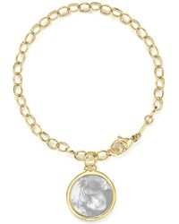 Monica Rich Kosann - 18k Yellow Gold Oval Chain Hammered Charm Bracelet - Lyst