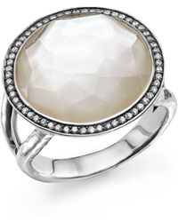 Ippolita - Sterling Silver Stella Lollipop Ring In Mother-of-pearl Doublet With Diamonds - Lyst