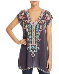 Johnny Was - Petunia Embroidered Tunic - Lyst