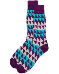 Bloomingdale's - Split Square Socks - Lyst