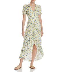 024800847000 Lost + Wander - Lost + Wander Mama Mia Ruffled Floral Wrap Dress - Lyst