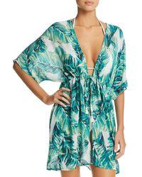 463e455920 J Valdi - Bermuda Tie-front Kimono Swim Cover-up - Lyst