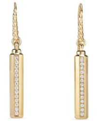 David Yurman - Barrels Drop Earrings With Diamonds In 18k Gold - Lyst
