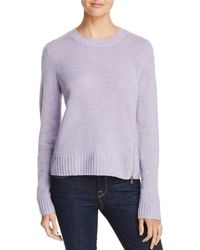 Aqua - Zip Detail Donegal Cashmere Sweater - Lyst