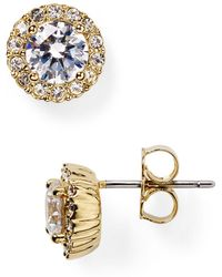 Nadri - Sterling Pavé Stud Earrings - Lyst