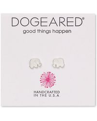 Dogeared - Elephant Stud Earrings - Lyst